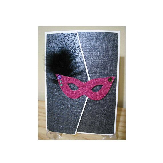 Handmade Custom DIY Masquerade Ball Theme Invitation Kit 5