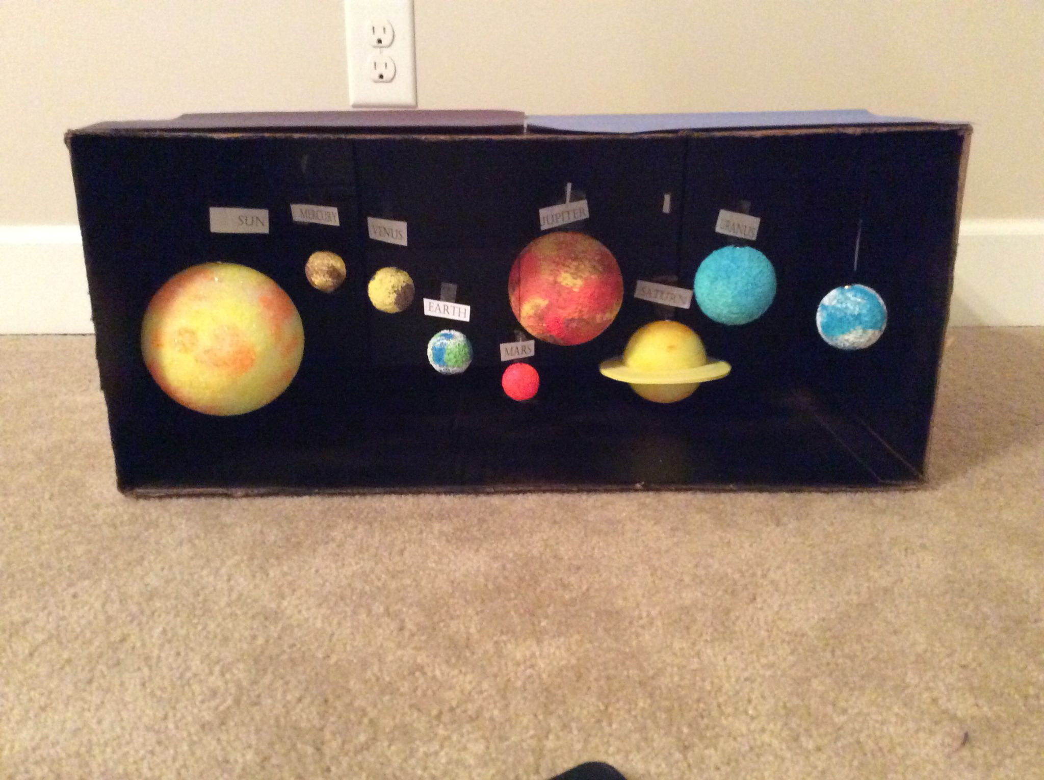 Solar System Diorama Solar System Projects For Kids Solar System Projects Solar System Crafts