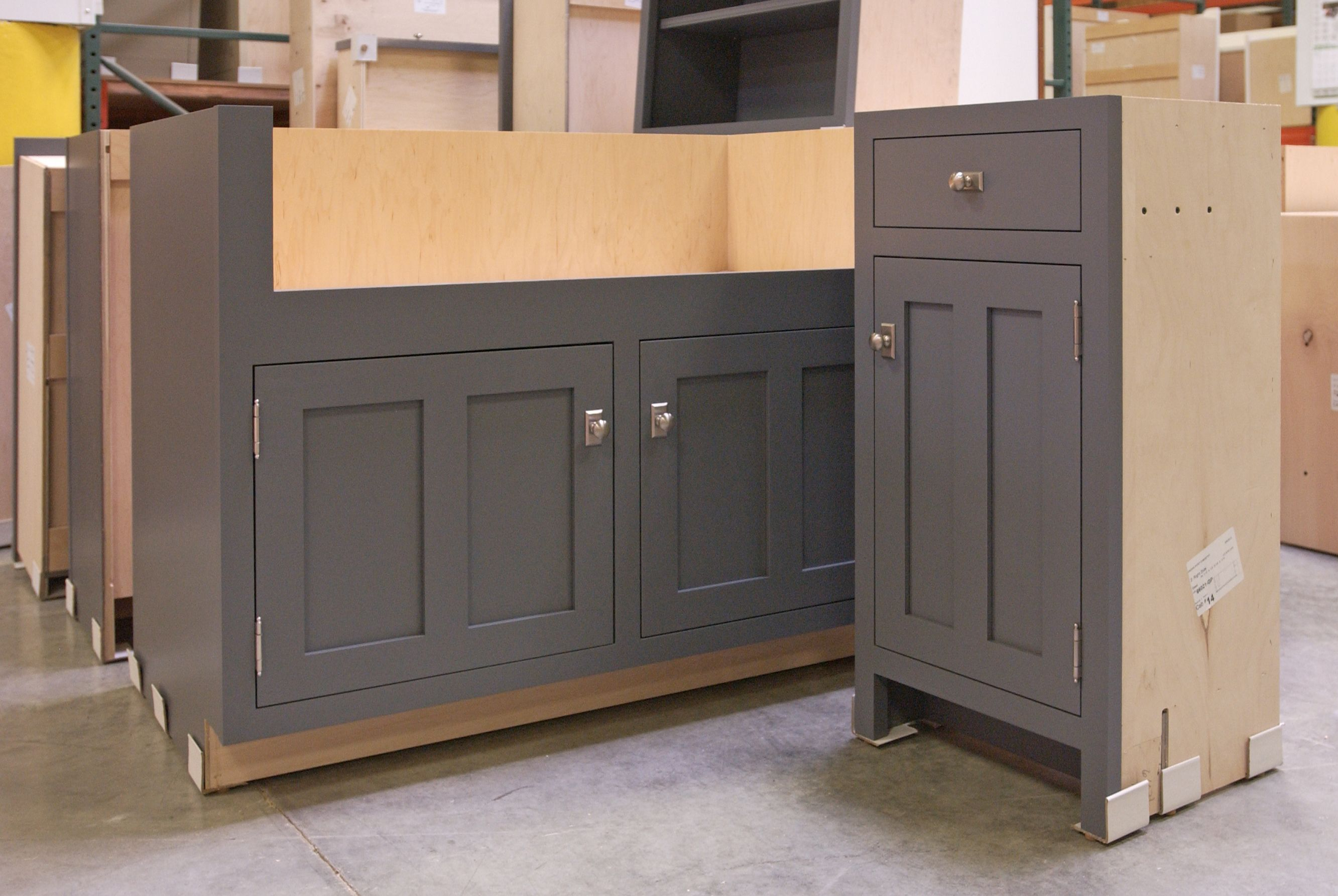 Houzz Gray Painted Cabinets