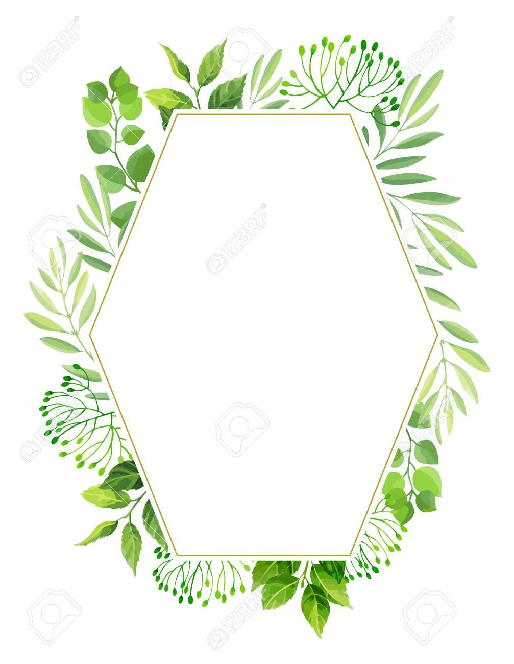 Green Leaves Frame Template Floral Background Vector Illustration Aff Frame Template Green Leave Floral Background Frame Template Abstract Design