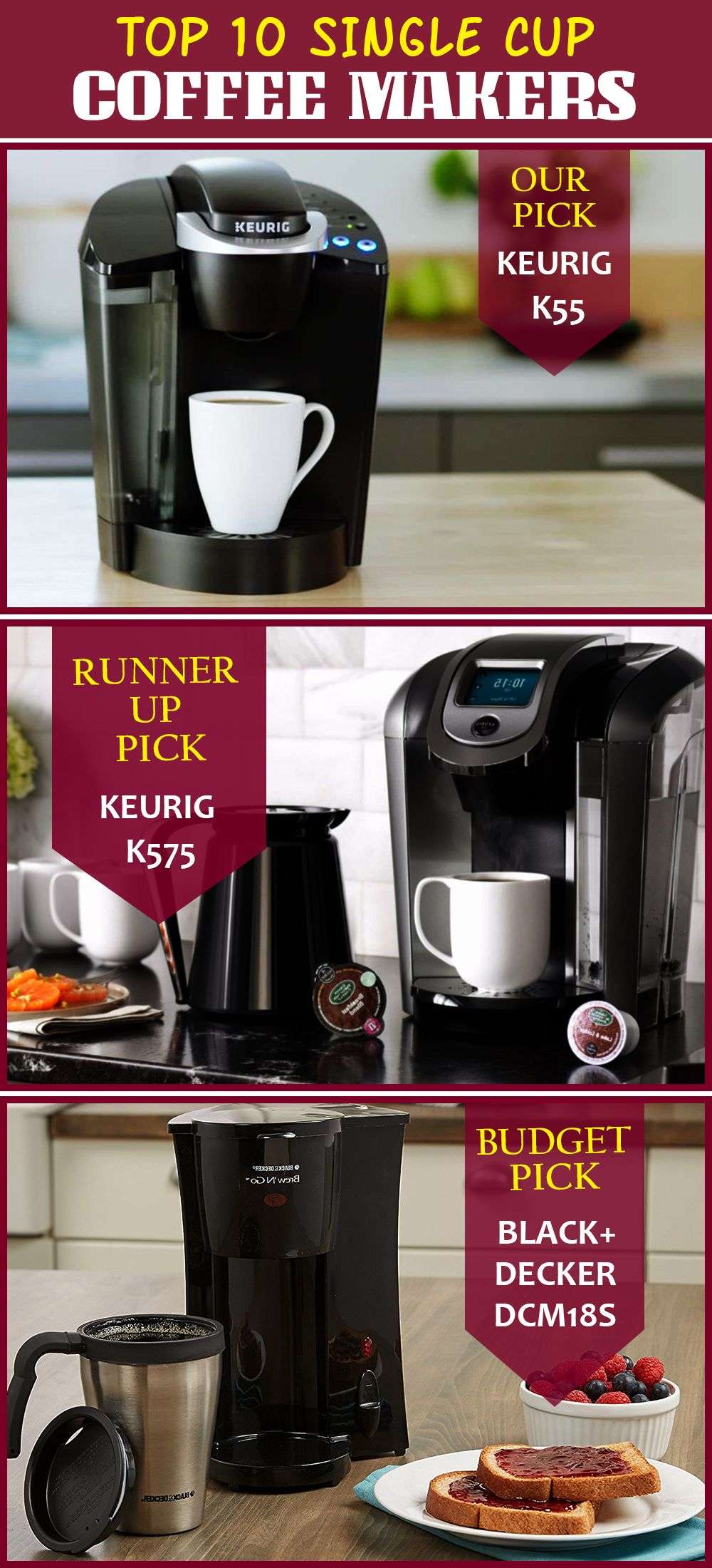 Top 10 Single Cup Coffee Makers Dec 2018 Reviews Buyers Guide