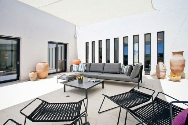 Lavish Modern Holiday Villa with Mediterranean Accents: Lovely Couch In Gray ~ murrietahomepage.com Villa Inspiration