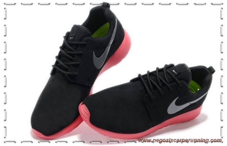 Donna Nike Roshe Run Coal Nero/Rosa/Super Rosso 511882-016 ...