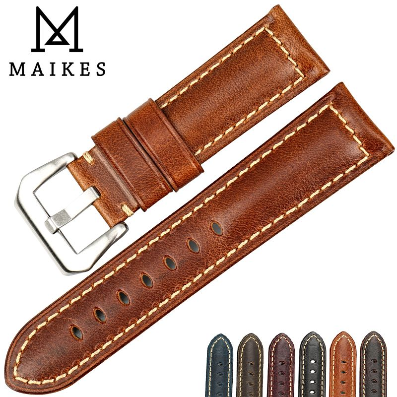 28d8cb2f387 Check Price MAIKES Good quality Italian cow leather watch band 22mm 24mm  26mm watchbands wristband watch accessories for Fossil watch strap  MAIKES   Good ...