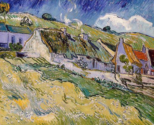 Vincent van Gogh, Cottages ~ May 1890