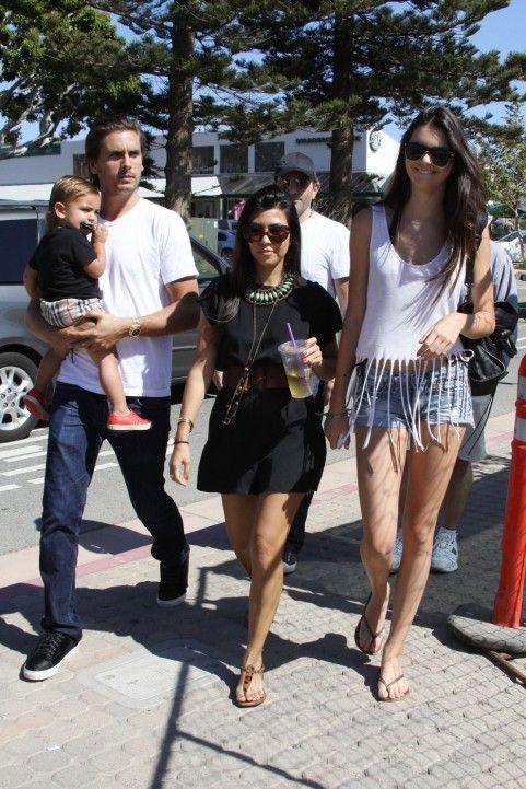 Kourtney Kardashian Mason Dash Disick Kendall Jenner Malibu Shopping 071811 19