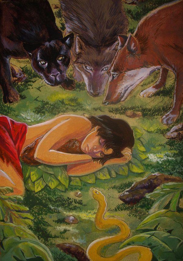 Mowgli Kaa The Jungle Book Rudyard Kipling Jungle Book Disney Fan Art Jungle Book