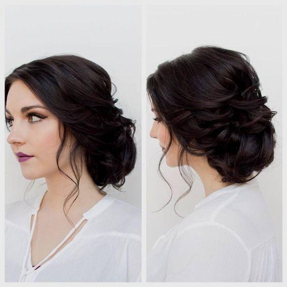 Bridesmaids Hairstyles Brown Ideas   Beautiful bridal hair ...