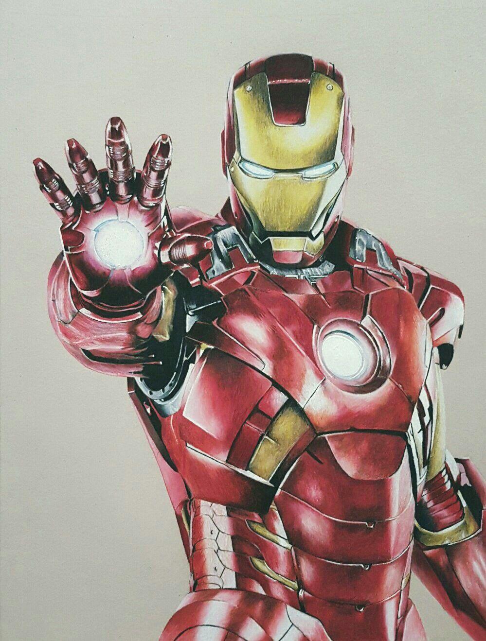 Iron Man sketch Prismacolour Strathmore paper | Iron man ...