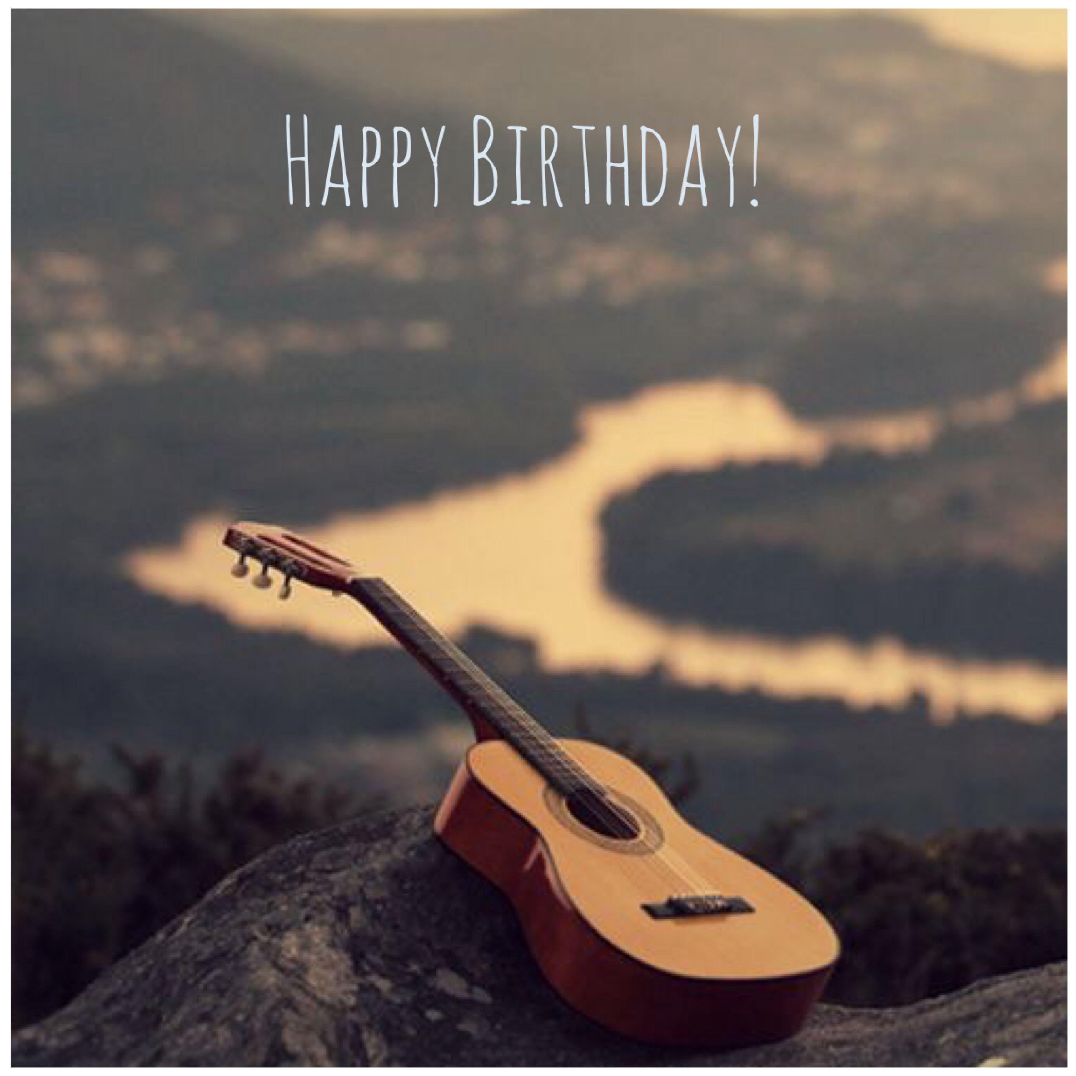 Happy Birthday Guitar Greetings And Salutations Happy Birthday