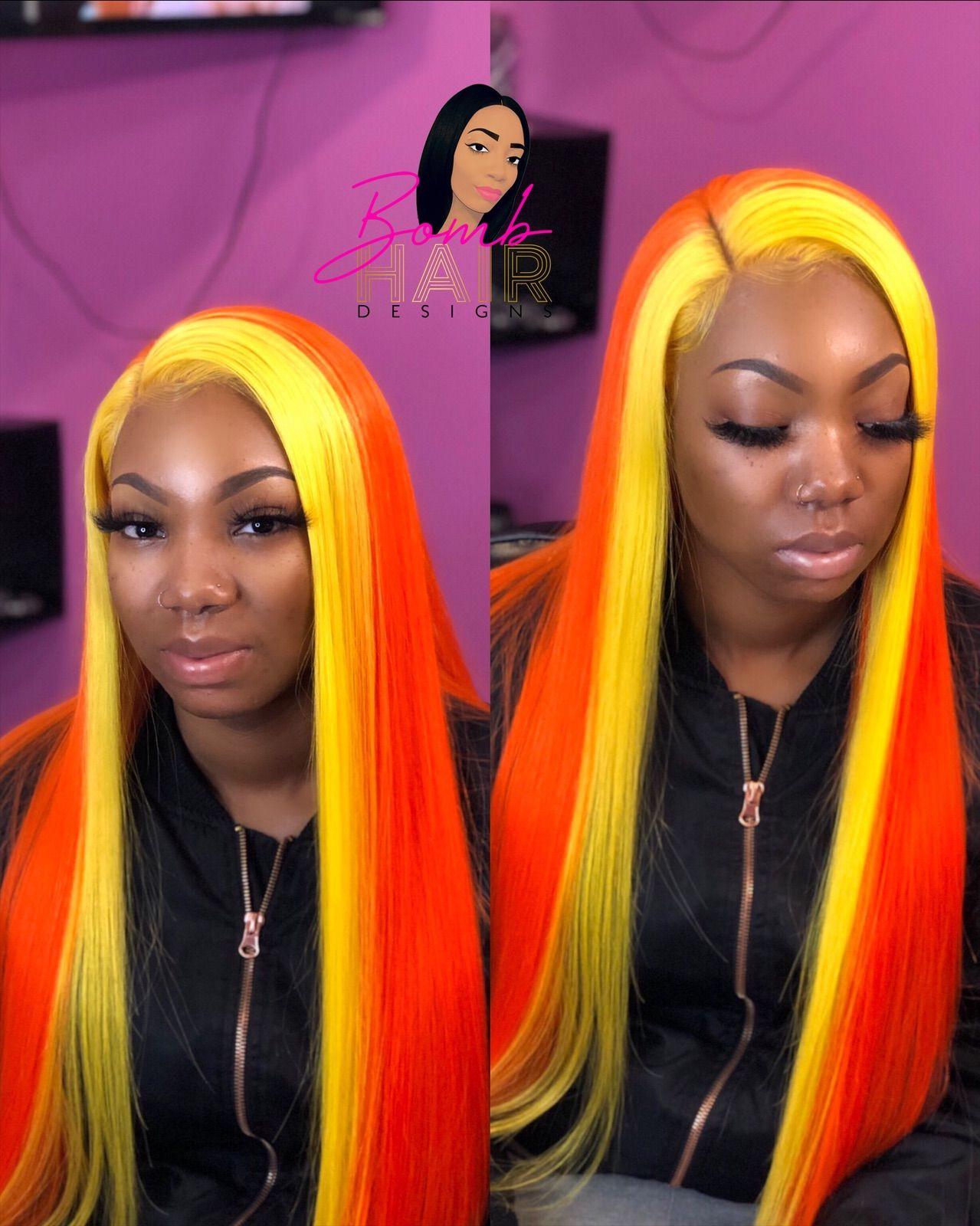 Orange Bob Wigs