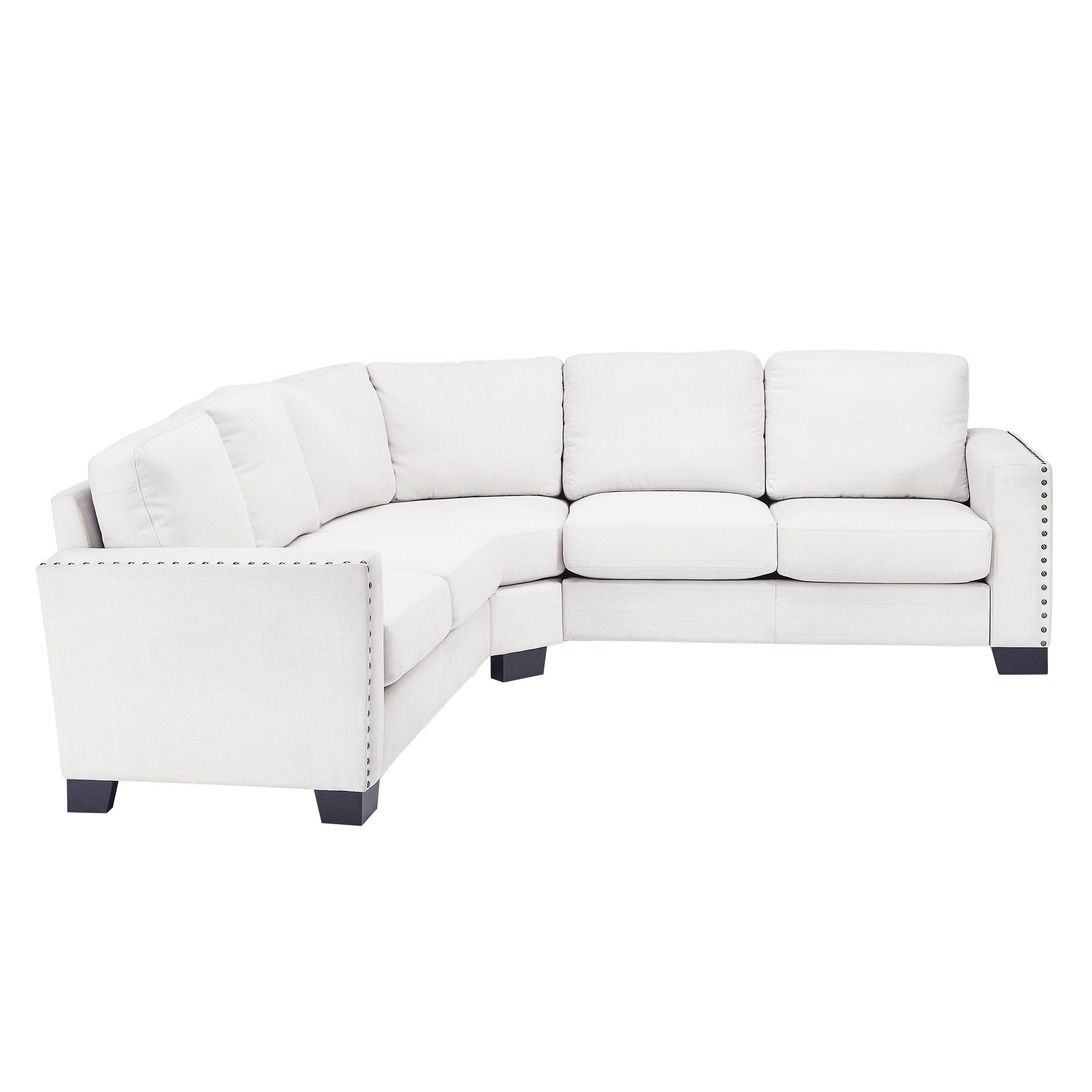Mercury Row Reg Blackston 5 Seat Nailhead Trimmed Linen L Shaped Reversible Chaise Sectional Inspire Q Sectional Sofa Couch Sectional
