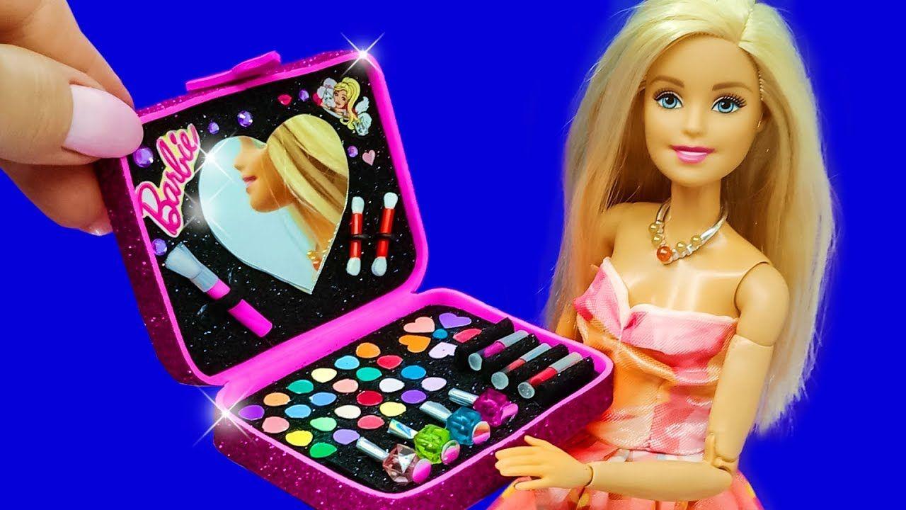 Barbie Doll Makeup Set. DIY for Kids. How to Make