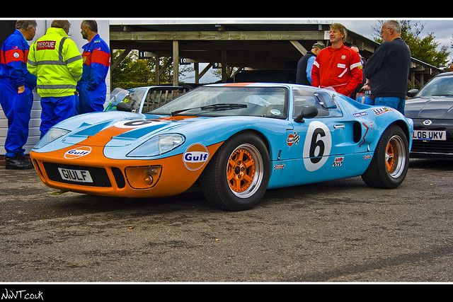 Ford Gt 40 Gulf Livery No 6 Low Front Quarter Shot Ford Gt Ford Gt40 Vintage Race Car