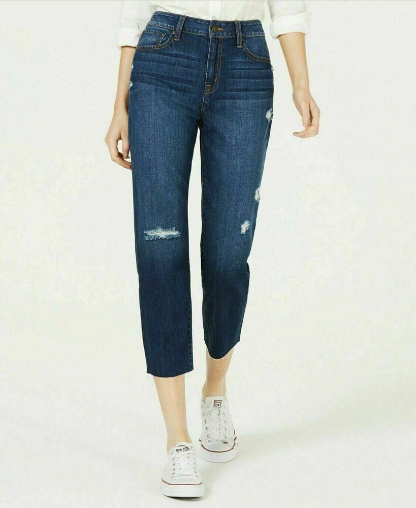 Rewash Womens Juniors' Ripped Cropped Jeans Size 11 R, Clearance, EB-C76 0923 #Rewash #Cropped