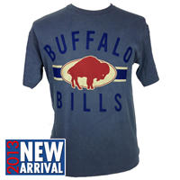 Buffalo Bills T-Shirt - Vintage Roster IV - Faded Blue