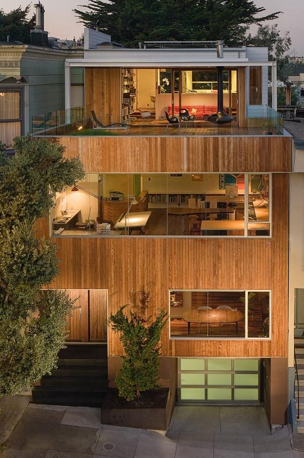 Live work house plan in san francisco this has my rooftop garden with rooftop office definite