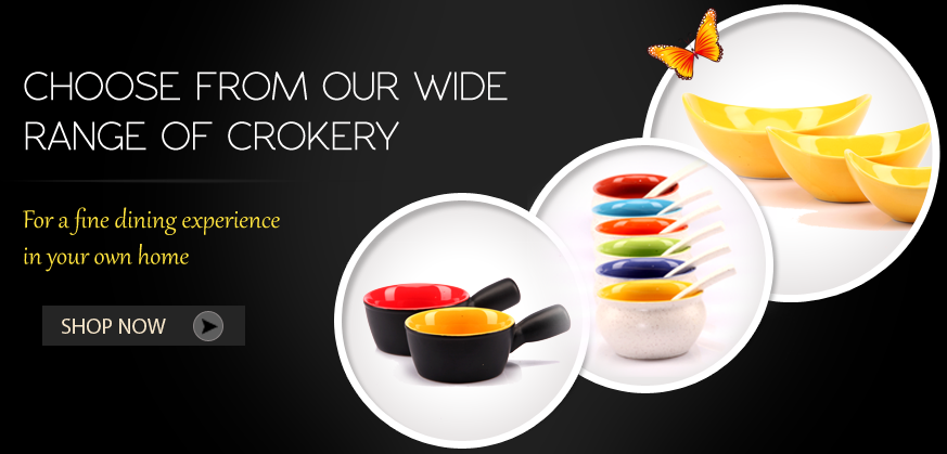 Choose from our wide range of crokery for a fine dining experience  in your own home. www.grabbito.com