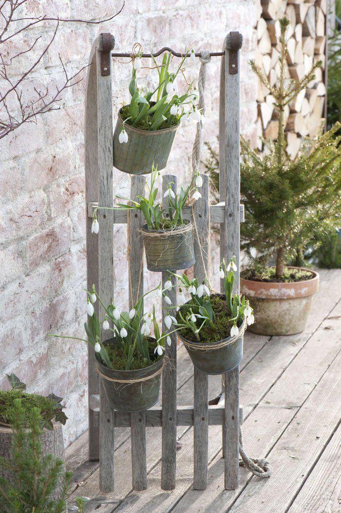 Decoration Ideas With Snowdrops Diy Gartenprojekte Deko Ideen Cottage Garten Design