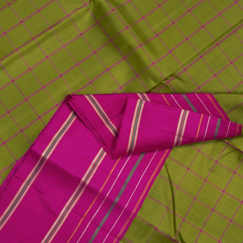 Kanakavalli Handwoven Kanjivaram Korvai Sari : 070100190 - Sari / Checks - Parisera