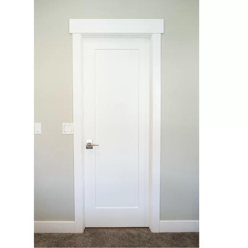 Stiledoors Paneled Solid Manufactured Wood Primed Shaker One Panel Slab Door Wayfair Slab Door Doors Interior Door Design Interior