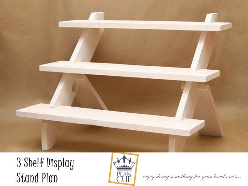 Craft Fair Display Stand Plans Cupcake stand 3shelf