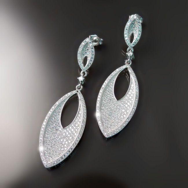 Cly Imitation Diamond Bridal Earrings