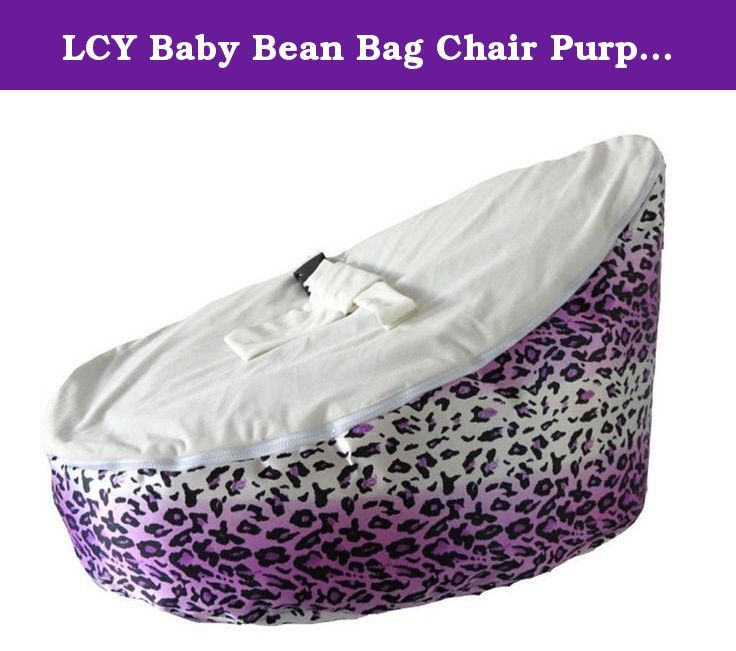 LCY Baby Bean Bag Chair Purple Leopard Print White UNFILLED Please Note That This