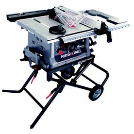 Shop Porter Cable 15 Amp 10 In Table Saw At Lowes Com Portable Table Saw Porter Cable Table Saw