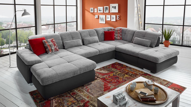 Beeindruckend Sofa Sitztiefenverstellung Ideen Von Wohnlandschaft Active In Grau Inkl.