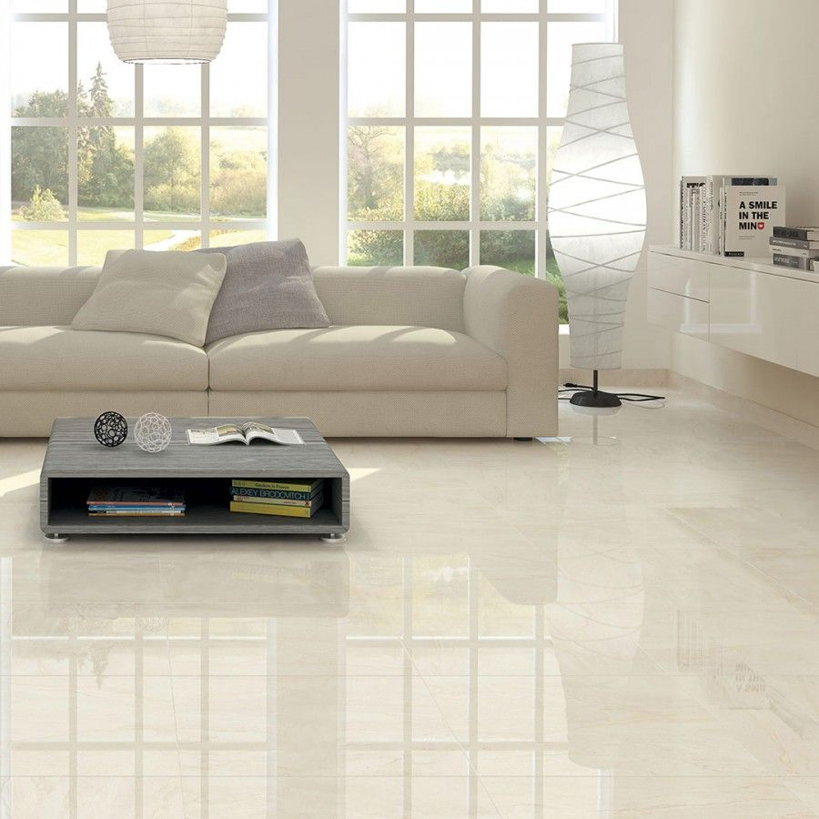Cristallo Cream Polished Porcelain Tiles 800x800 Tile Floor Living Room Living Room Tiles Living Room Flooring