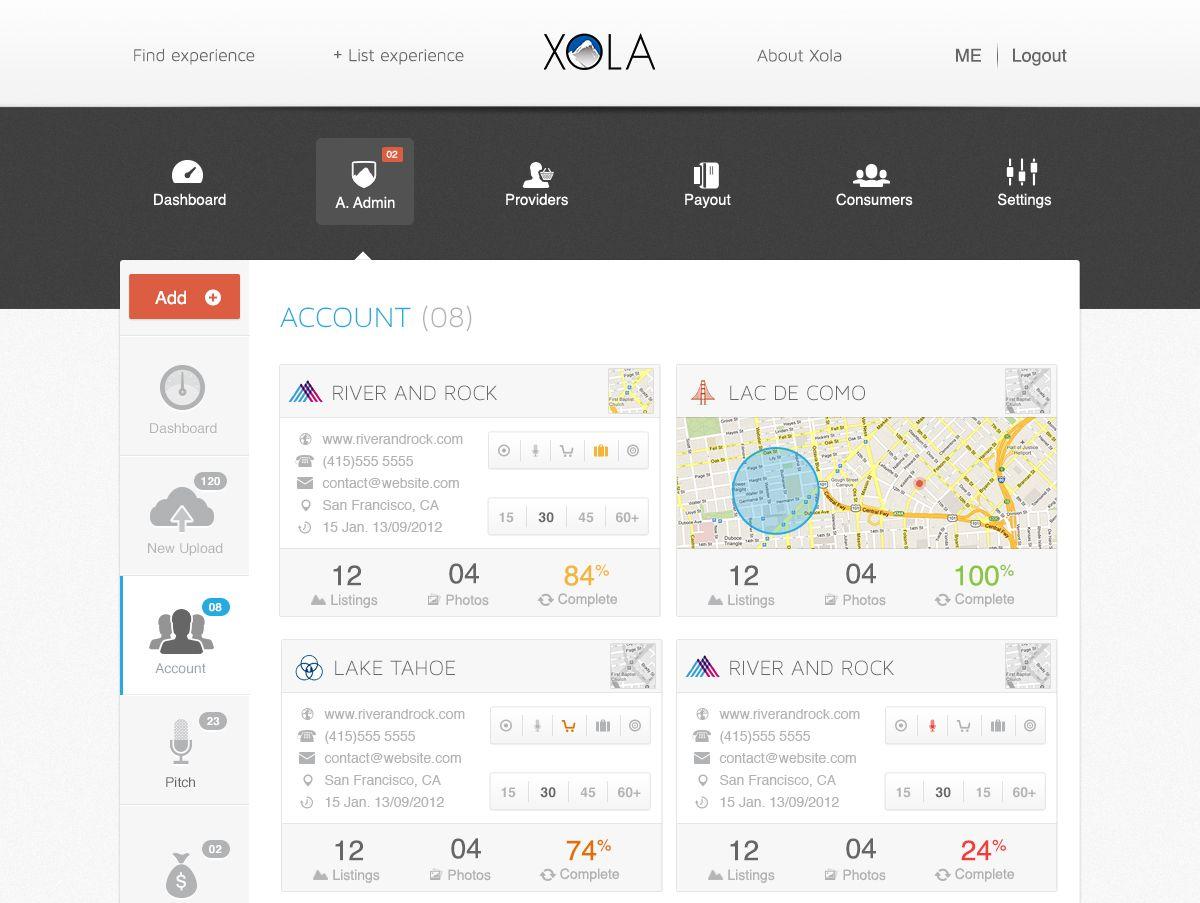 account tab ui design
