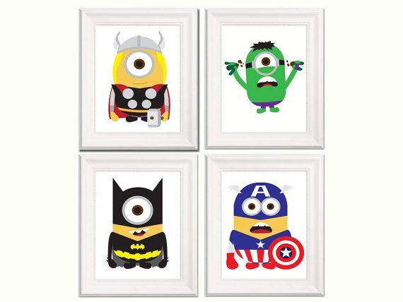 Nursery Decor Minions Poster Minions Superhero Marvel
