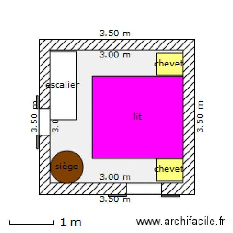 mazot 1 1er étage Plan de 1 pièce et 9 m2 Mazots - petits chalets