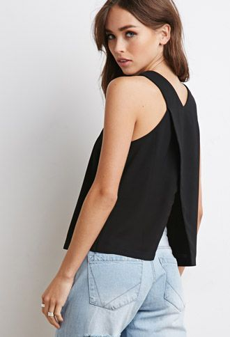 V-Cut Slit Top | Forever 21 | #thelatest