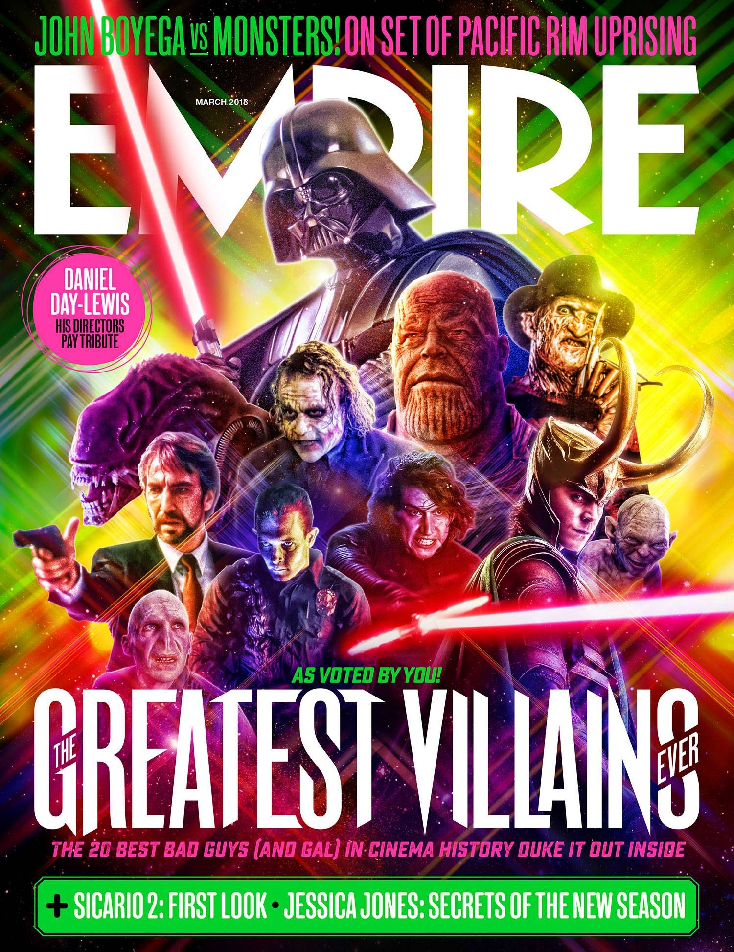The Avengers: Infinity War Thanos Featured On Empire's Greatest Villains  Cover