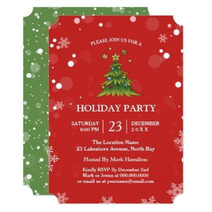 Modern Holiday Office Party Invitations - christmas cards merry xmas