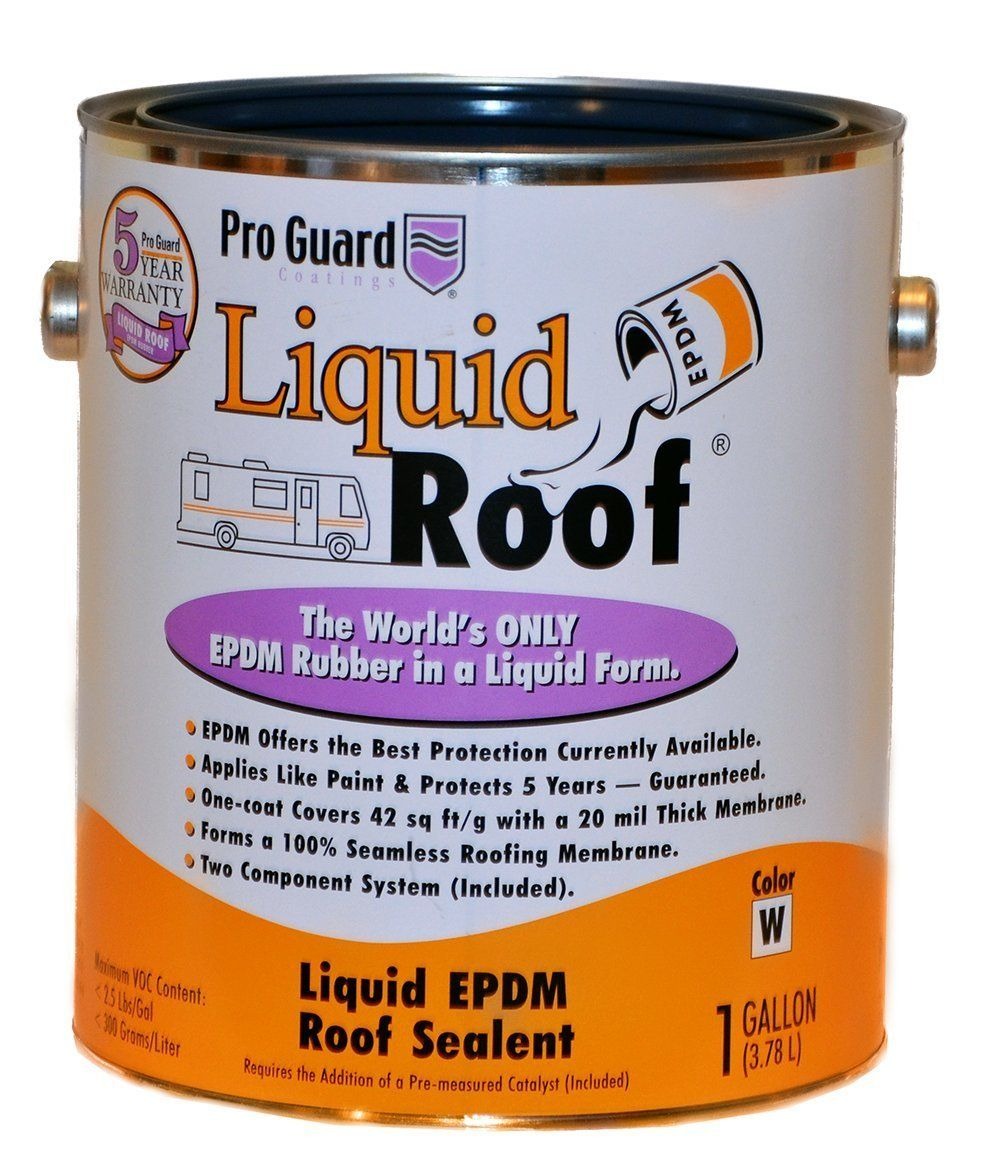 Amazon Com Liquid Roof Rv Roof Coating Repair 1 Gallon Home Improvement Camper Repair Rv Roof Repair Camping Trailer