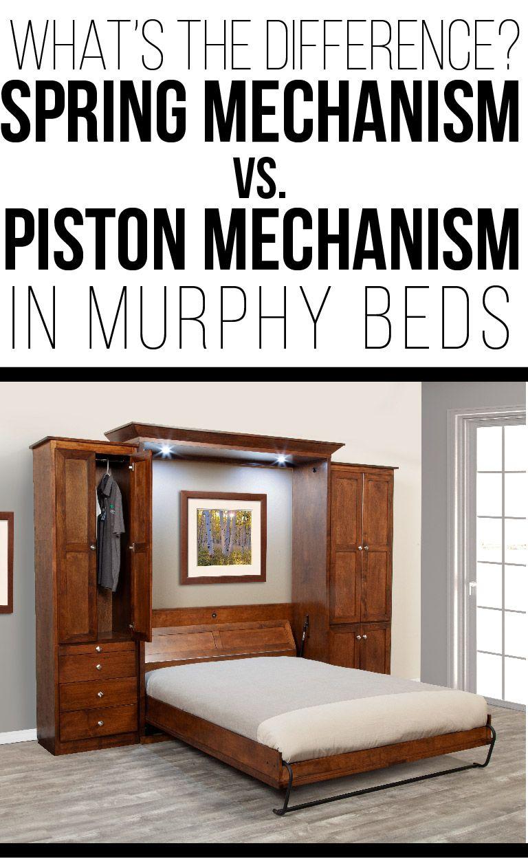 Murphy Bed Spring Mechanism vs. Piston Mechanism What's