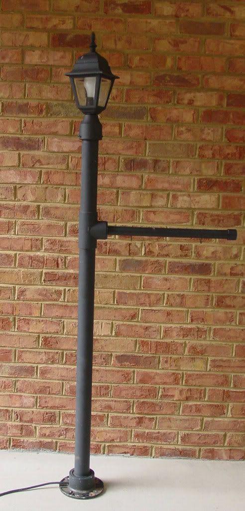 PVC Lamp Post | Lamp post, Diy lamp