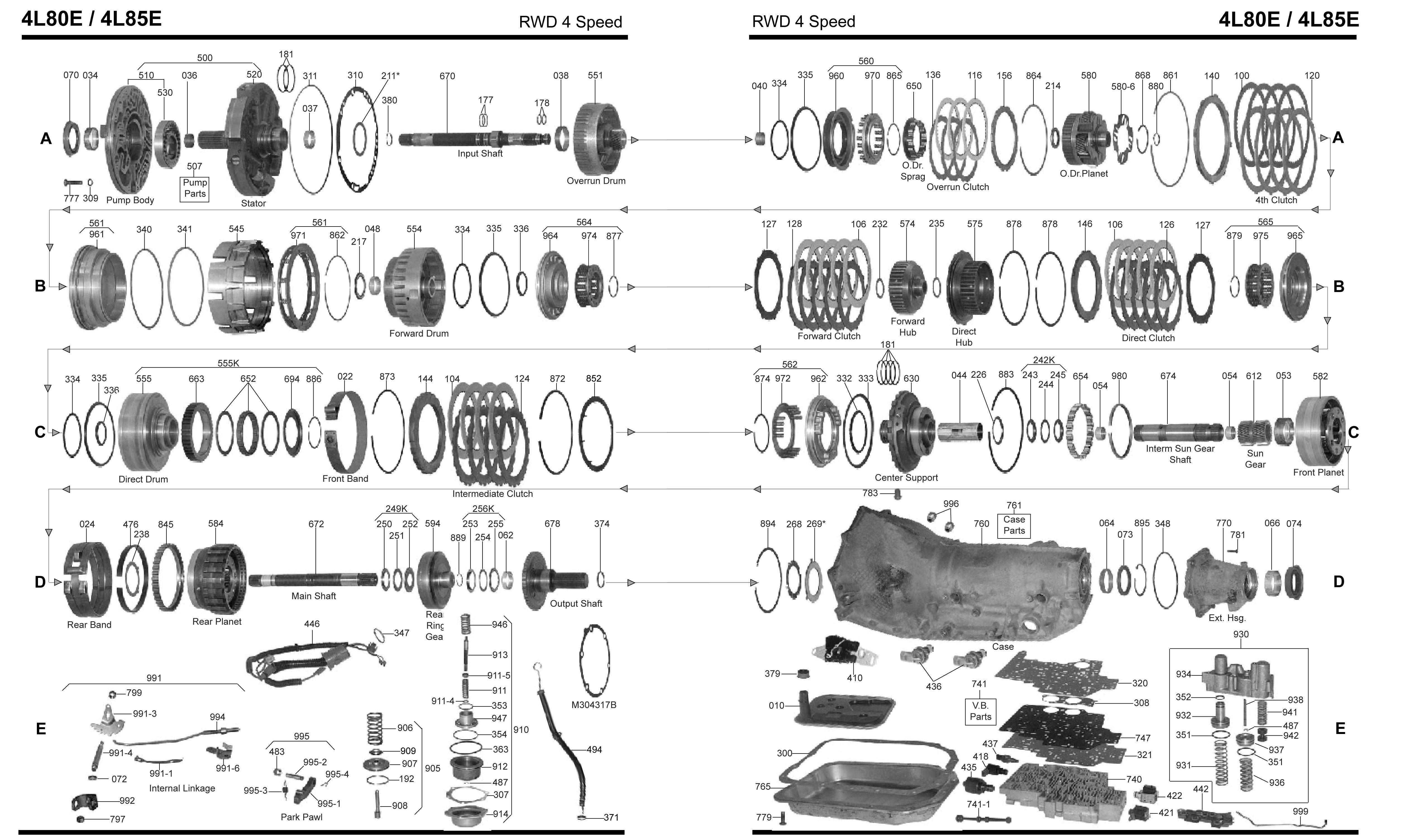4l80e Transmission Parts Diagram Automatic Transmission