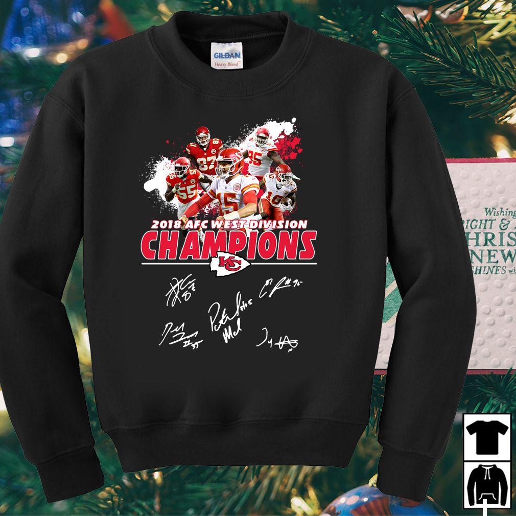 ede6d58d39882f Kansas City Chiefs 2018 AFC west division champions shirt, hoodie ...