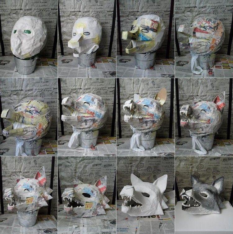 Pappmache Masken selber machen - 12 Ideen für Faschingsmasken