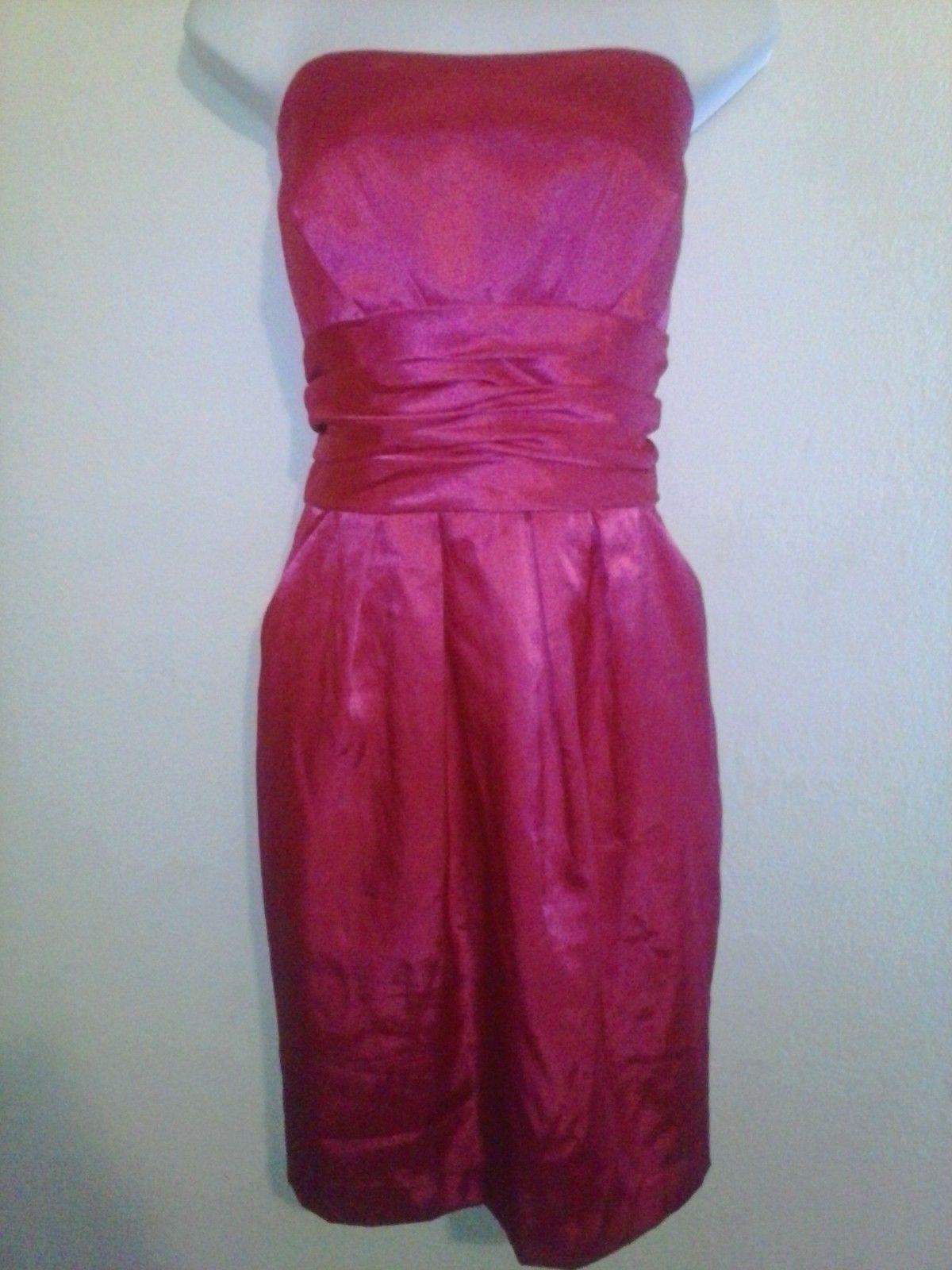 Womens Plus Size Dress DAVIDS BRIDAL Party Empire Sheath Fuschia ...