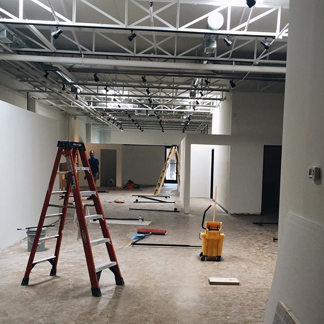 our dallas shop is still under construction but we'll be ready for you in two weeks! #texasbride