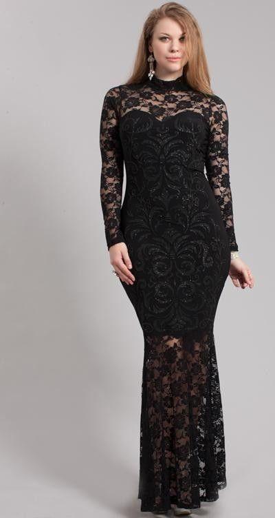 Plus size black maxi dress 3x