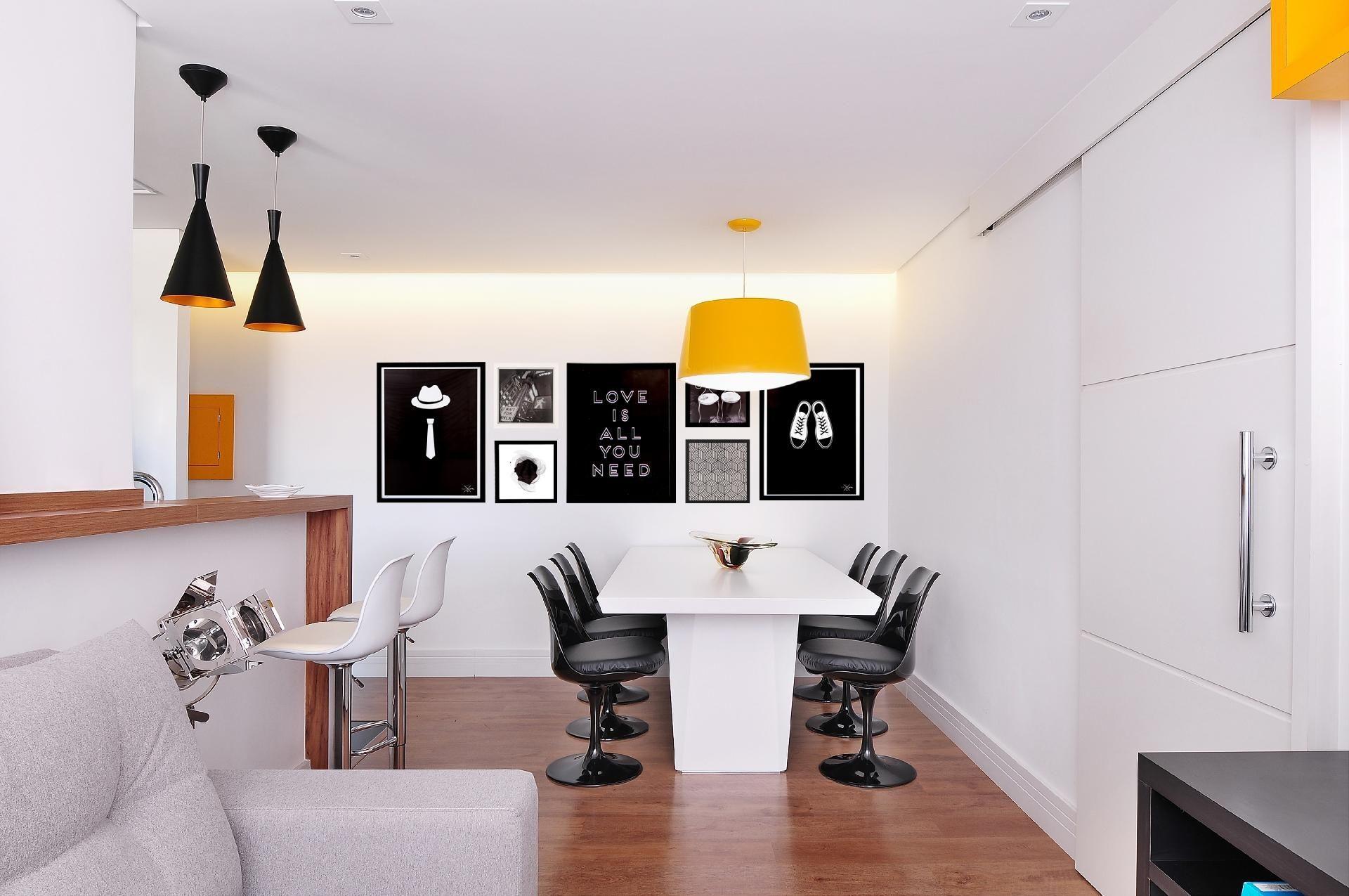 Com Reforma Ap De 55 M Ganha Sala Integrada E Azulejo Colorido  -> Decoracao De Sala Pequena Vermelha E Amarela