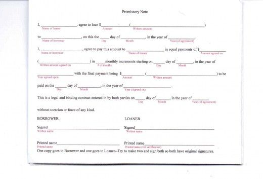 Basic Promissory Note Personal Form For Loan \u2013 pitikih