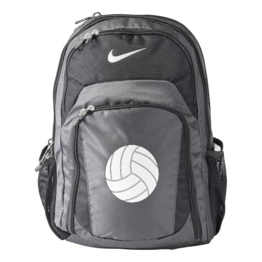 58fe23aa162 CUSTOMIZABLE Nike Volleyball Backpack...Add your own jersey number or  initials! #Nike #Volleyball #NikeVolleyball   Volleyball Goodness   Nike  volleyball, ...