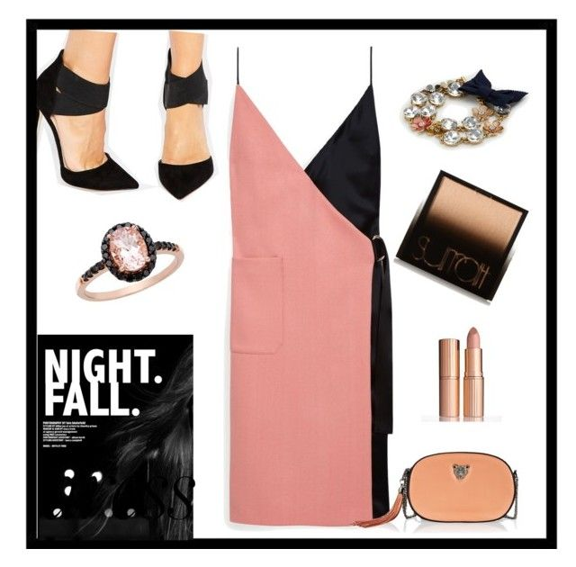 """""""two tone dress"""" by calihotgirl1 on Polyvore featuring Mulberry, ASOS, Surratt, Ann Taylor, RusiDesigns and Ice"""